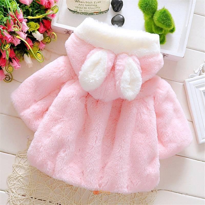 Fashion Warm Cotton Baby Girl S Fur, Fur Coat For Baby Girl